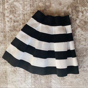 Xhilaration black and white striped skirt
